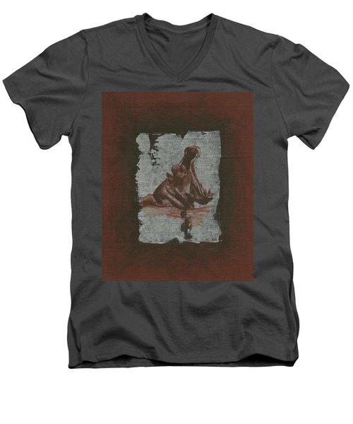 Hippo Men's V-Neck T-Shirt