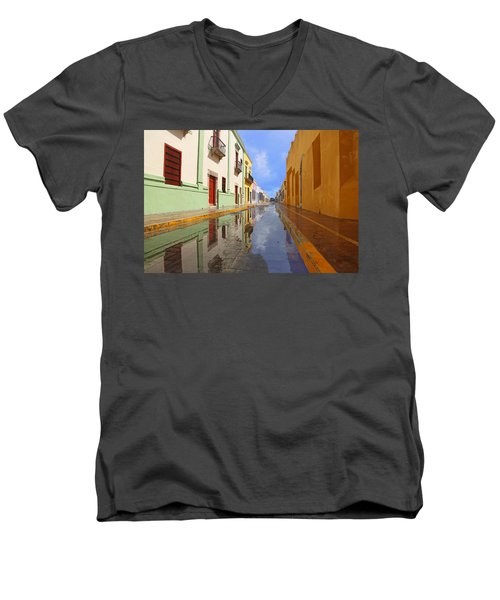 Historic Campeche Mexico  Men's V-Neck T-Shirt