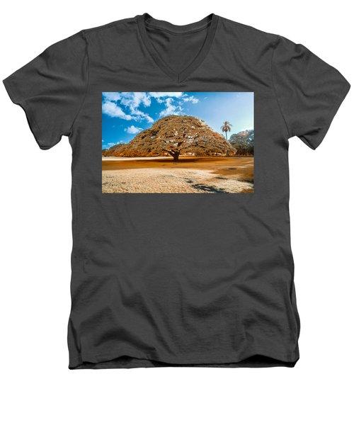 Hitachi Tree In Infrared Men's V-Neck T-Shirt