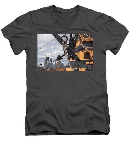 Hms Diamond And Hms Victory Men's V-Neck T-Shirt