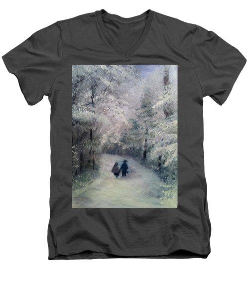 Hold My Hand Men's V-Neck T-Shirt by Gail Kirtz