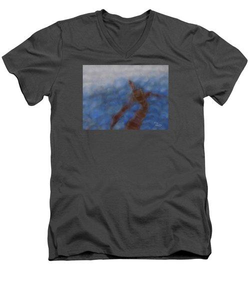 Hold The World Men's V-Neck T-Shirt