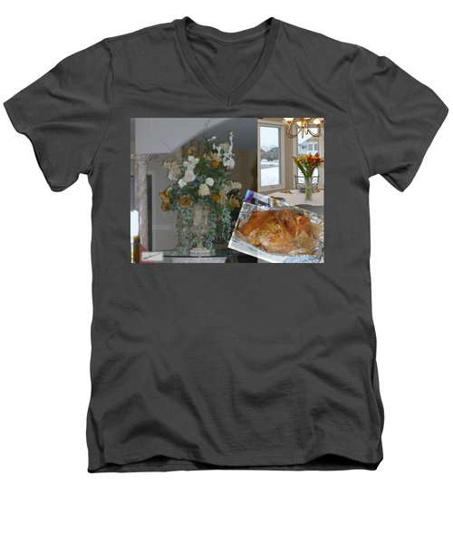 Holiday Collage Men's V-Neck T-Shirt