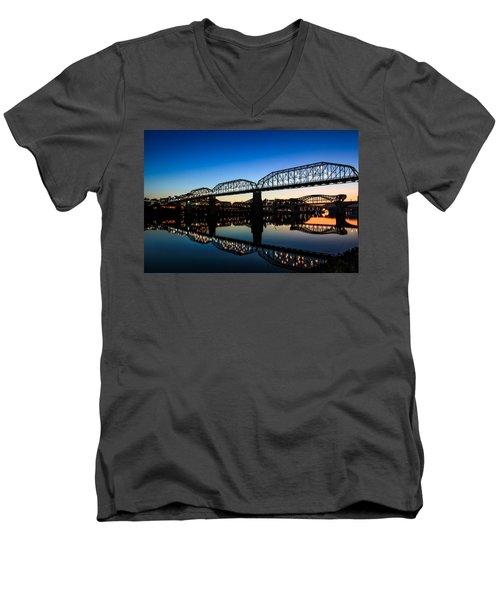 Holiday Lights Chattanooga Men's V-Neck T-Shirt