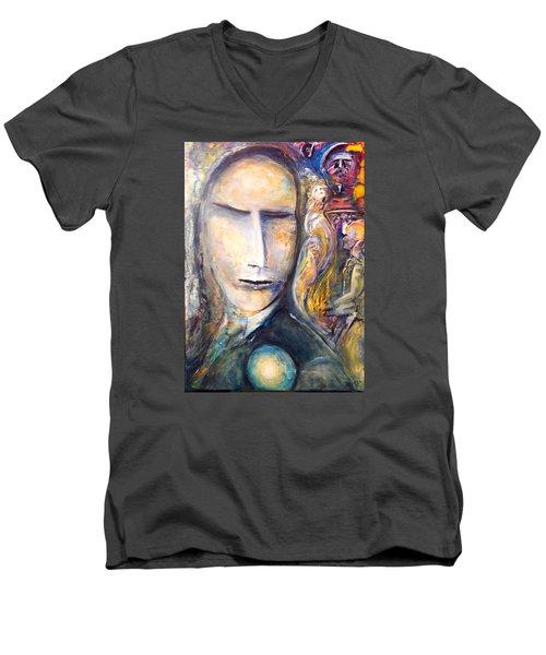 Hollow Man  Men's V-Neck T-Shirt