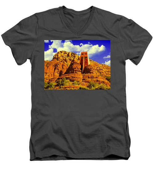 Holy Cross Chapel Coconino National Forest Men's V-Neck T-Shirt
