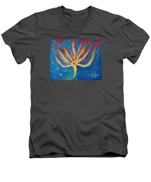 Holy Spirit Which Dwells In You Men's V-Neck T-Shirt by Cassie Sears