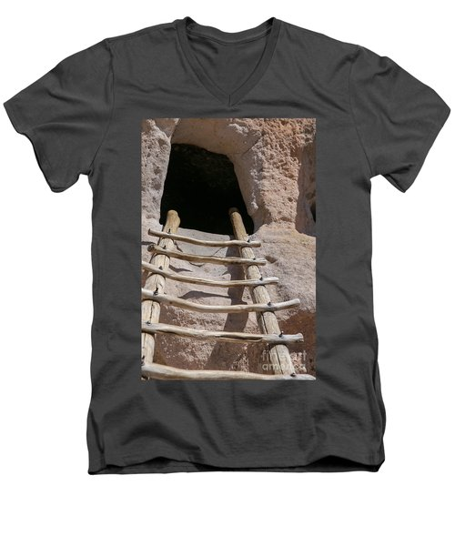 Home In Frijoles Canyon Men's V-Neck T-Shirt by Lynn Sprowl