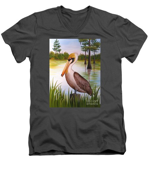 Home On The Bayou  Men's V-Neck T-Shirt