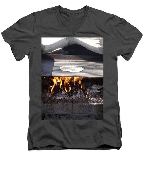Men's V-Neck T-Shirt featuring the photograph Homemade Tortillas by Kerri Mortenson