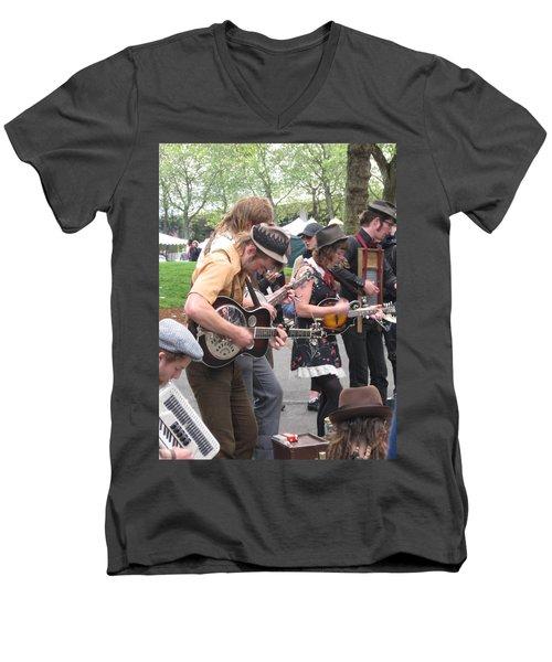 Homestyle Band Men's V-Neck T-Shirt by David Trotter