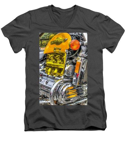 Honda Valkyrie 1 Men's V-Neck T-Shirt by Steve Purnell