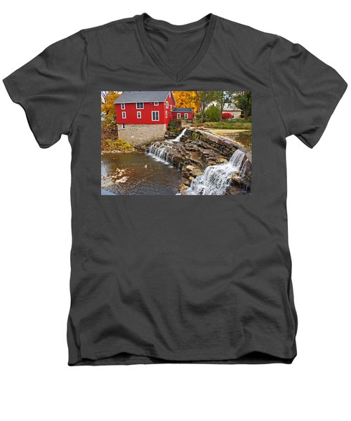 Honeoye Falls 1 Men's V-Neck T-Shirt by Aimee L Maher Photography and Art Visit ALMGallerydotcom