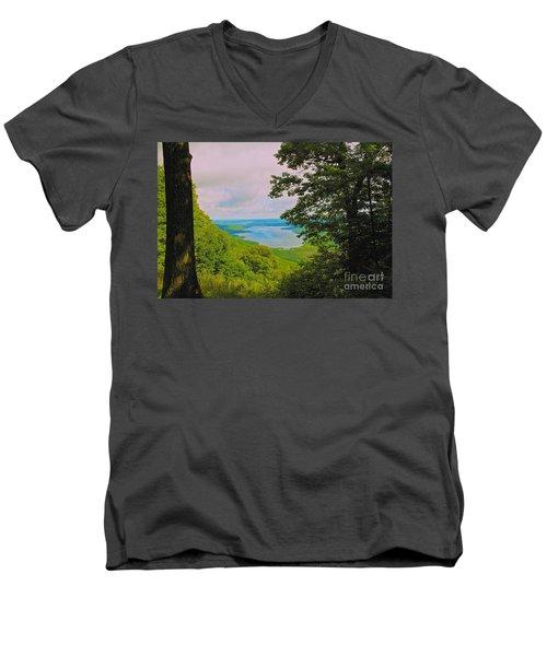 Honeoye Lake Men's V-Neck T-Shirt