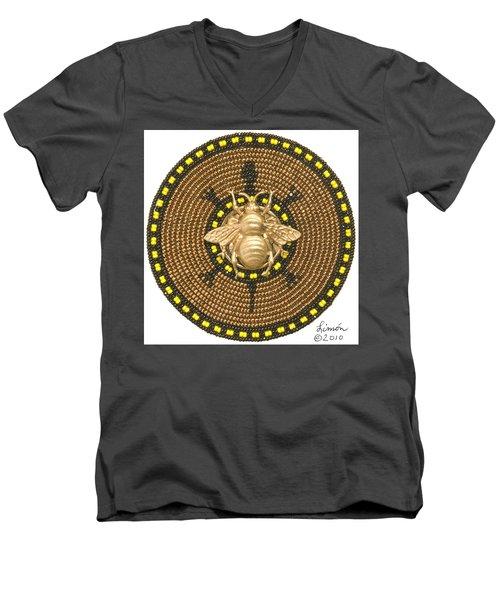 Honey Bee Turtle Men's V-Neck T-Shirt
