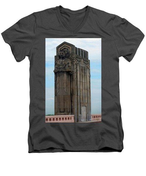 Hope Memorial Bridge Guardian Men's V-Neck T-Shirt