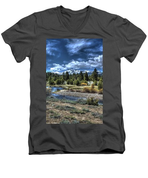 Hope Valley Wildlife Area 2 Men's V-Neck T-Shirt