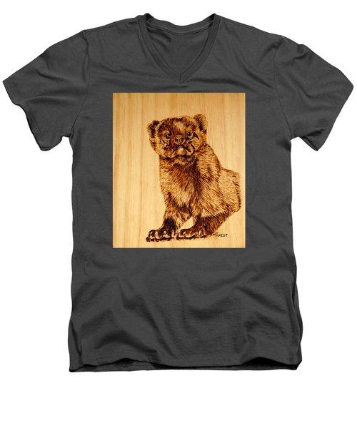Hope's Marten Men's V-Neck T-Shirt by Ron Haist