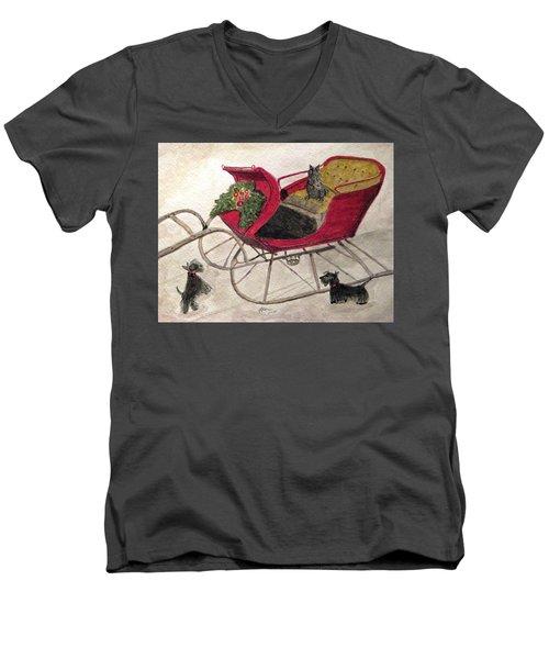 Hoping For A Sleigh Ride Men's V-Neck T-Shirt