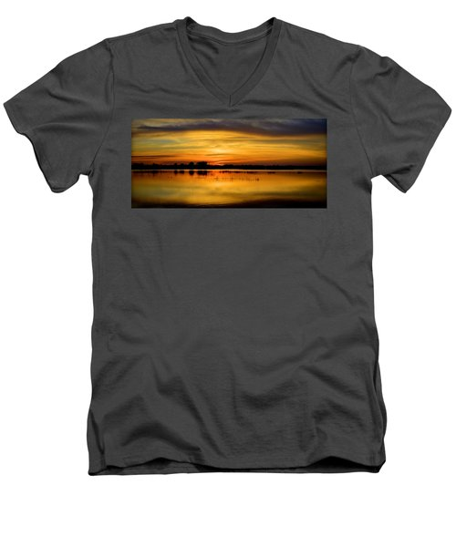 Horizons Men's V-Neck T-Shirt by Bonfire Photography
