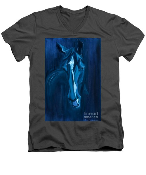 horse - Apple indigo Men's V-Neck T-Shirt