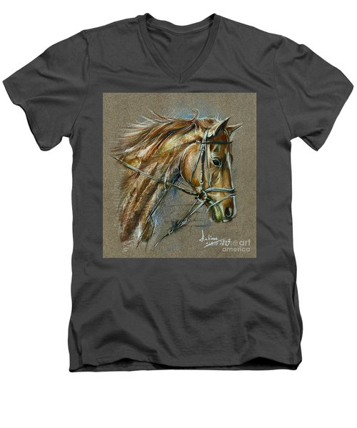 My Horse Face Drawing Men's V-Neck T-Shirt