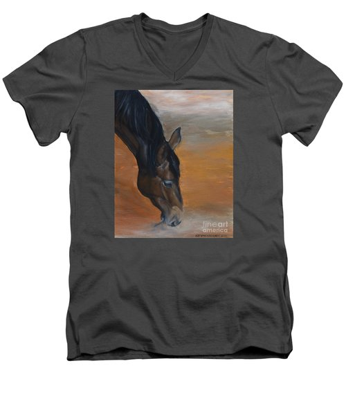 horse - Lily Men's V-Neck T-Shirt