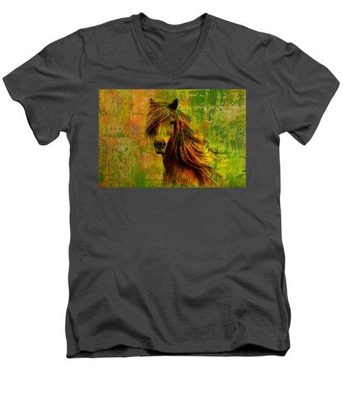 Horse Paintings 001 Men's V-Neck T-Shirt