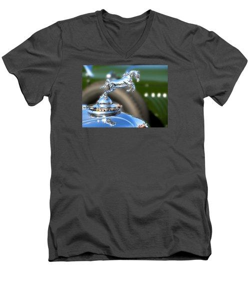 Men's V-Neck T-Shirt featuring the photograph Horse Power by Rebecca Davis