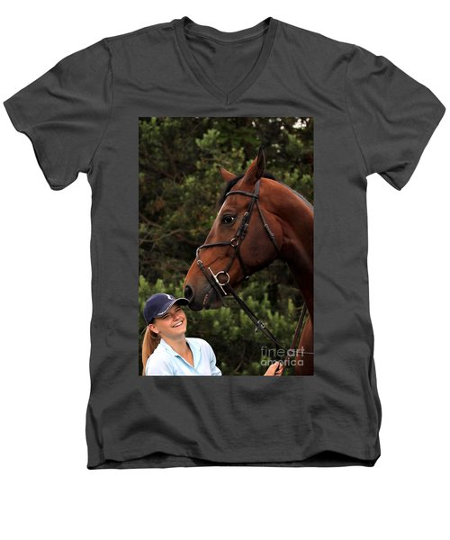 Horsie Nudge Men's V-Neck T-Shirt