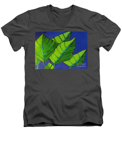 Hosta Blue Tip One Men's V-Neck T-Shirt