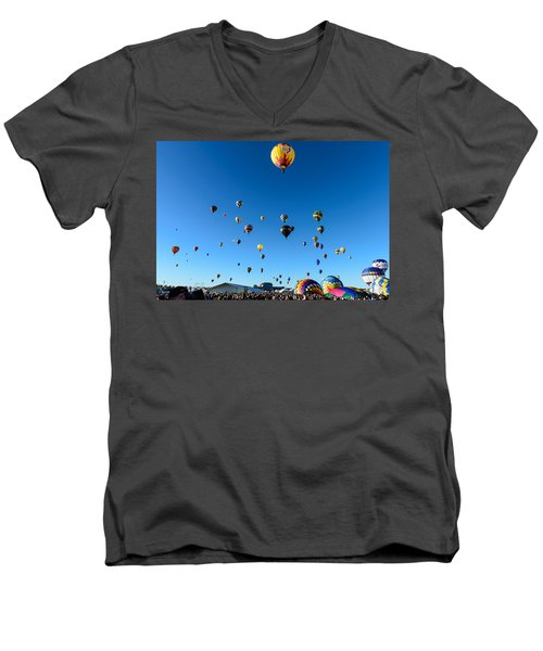 Hot Air Balloons Men's V-Neck T-Shirt