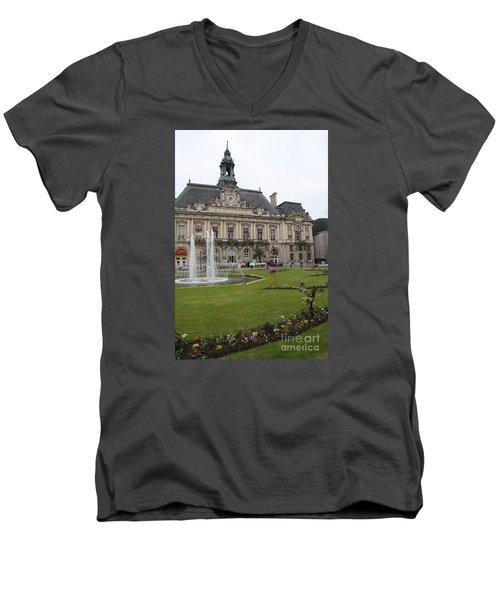 Hotel De Ville - Tours Men's V-Neck T-Shirt by Christiane Schulze Art And Photography