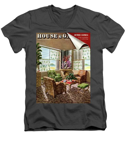 House And Garden Issue About Southern California Men's V-Neck T-Shirt