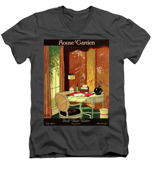 House And Garden Small House Number Men's V-Neck T-Shirt