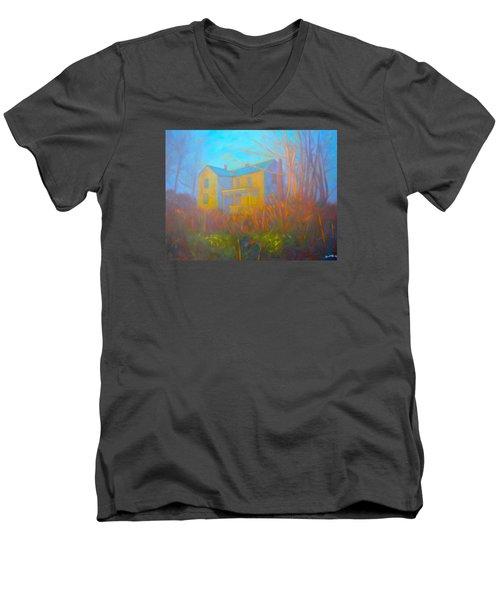 House In Blacksburg Men's V-Neck T-Shirt by Kendall Kessler