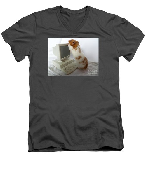 Men's V-Neck T-Shirt featuring the photograph How Do You Switch On This Screen? by Vicki Spindler