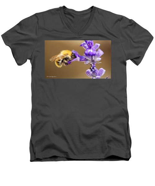 Men's V-Neck T-Shirt featuring the photograph Humming Bee  by Stwayne Keubrick