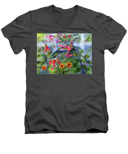 Hummingbird Dance Men's V-Neck T-Shirt