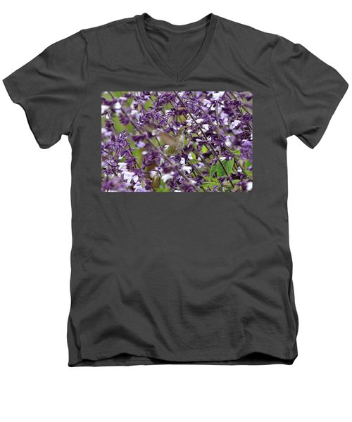 Hummingbird Flowers Men's V-Neck T-Shirt