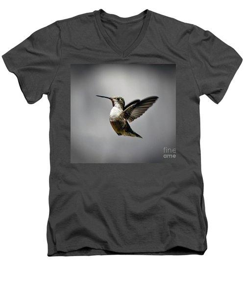 Hummingbird Men's V-Neck T-Shirt by Savannah Gibbs