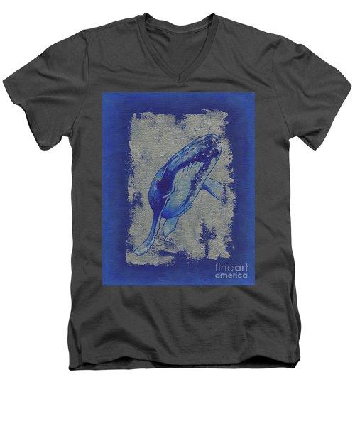 Humpback Whale Men's V-Neck T-Shirt