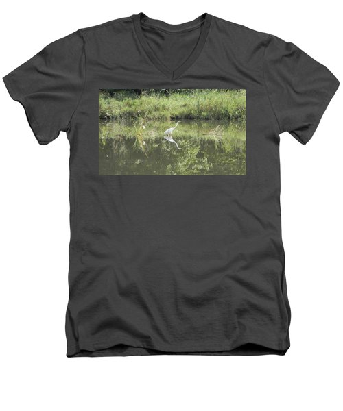 Hunter Reflected 2 Men's V-Neck T-Shirt by Mark Minier