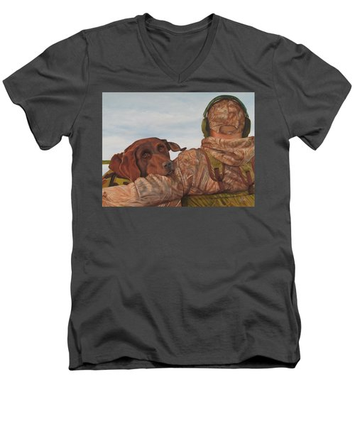 Hunting Boyfriend Men's V-Neck T-Shirt