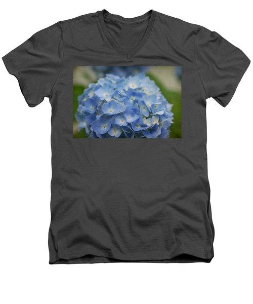 Hydrangea Solitude Men's V-Neck T-Shirt