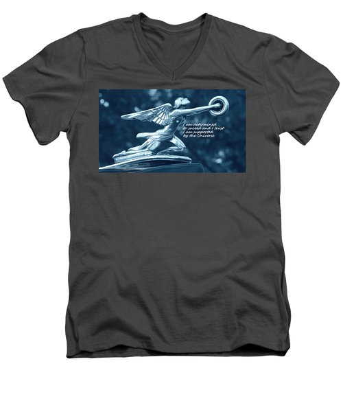 Men's V-Neck T-Shirt featuring the photograph I Am Determined by Patrice Zinck