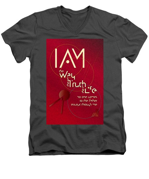 I Am The Way Men's V-Neck T-Shirt by Chuck Mountain