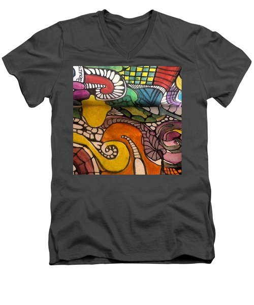 Life Is Better In Color Men's V-Neck T-Shirt