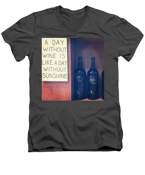 A Day Without Wine Men's V-Neck T-Shirt