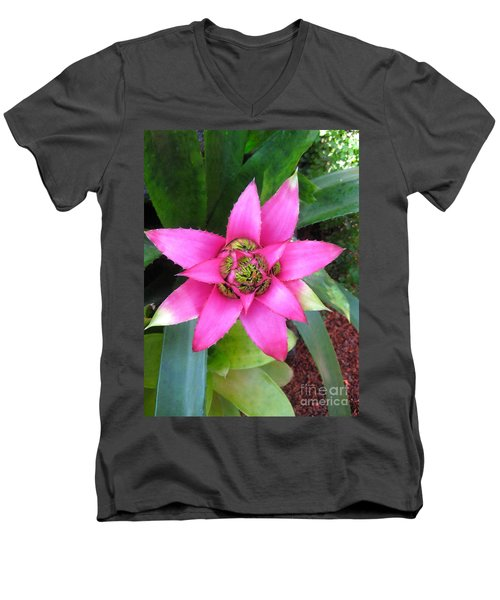 Pink And Beautiful  Men's V-Neck T-Shirt by Claudia Ellis